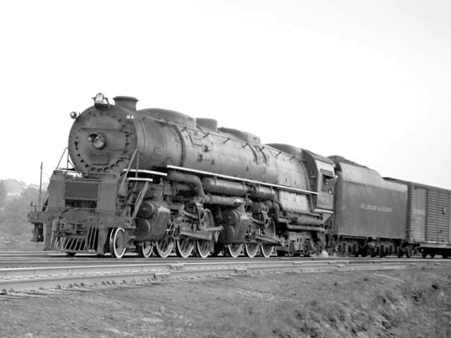D&H 1538 TYPE:  4-6-6-4  CLASS:  J  DATE:  10/1/47  LOCATION:  Glendale, NY  NOTES:  Near Mohawk Yard.  PHOTOGRAPHER:  Jim Wright