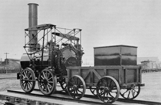 The replica has been operated under its own steam fired by anthracite.