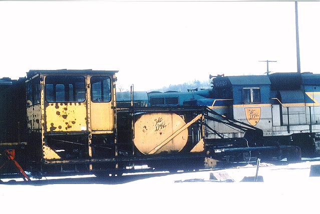 Snow Burner  At Mechanicville on a cold day in February 1981, waiting for its next call to duty.  Photo and scan by Neil C. Hunter.