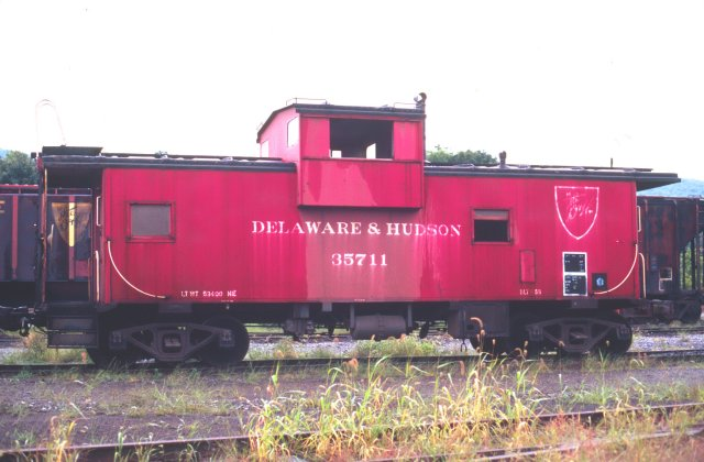 D&H 35711  September 1990 in Oneonta Yard, Oneonta, NY.  Photo by Chris Shepherd.