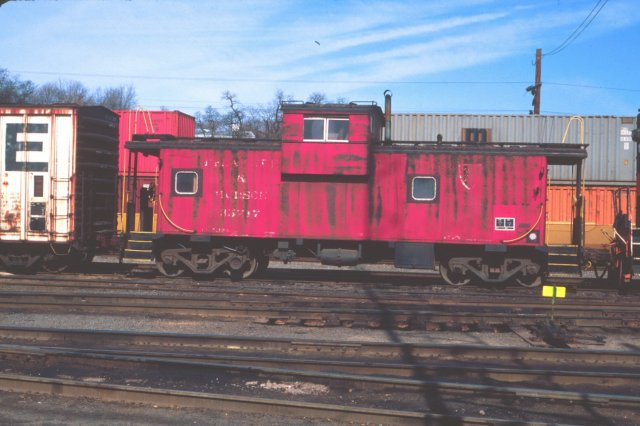 D&H 35717  April 1993 in Kenwood Yard, Albany, NY.  Photo by Chris Shepherd.