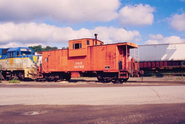 D&H 35799  July 1999 in Kenwood Yard, Albany, NY.  Photo by Chris Shepherd.