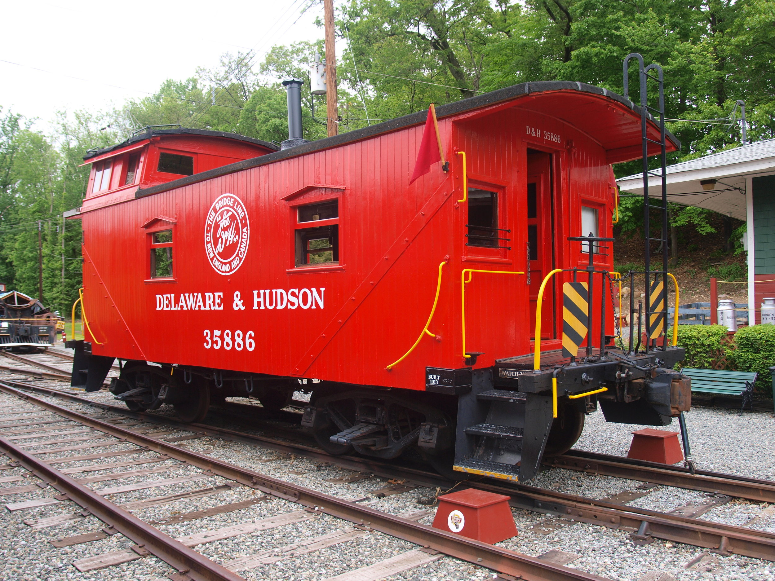 D&H #35886, built in 1913, is now owned by Steve Hepler, the President of the Whippany Railway Museum in Whippany, NJ. It is pictured on the museum grounds on May 22, 2016.  (Steve Hepler photo)