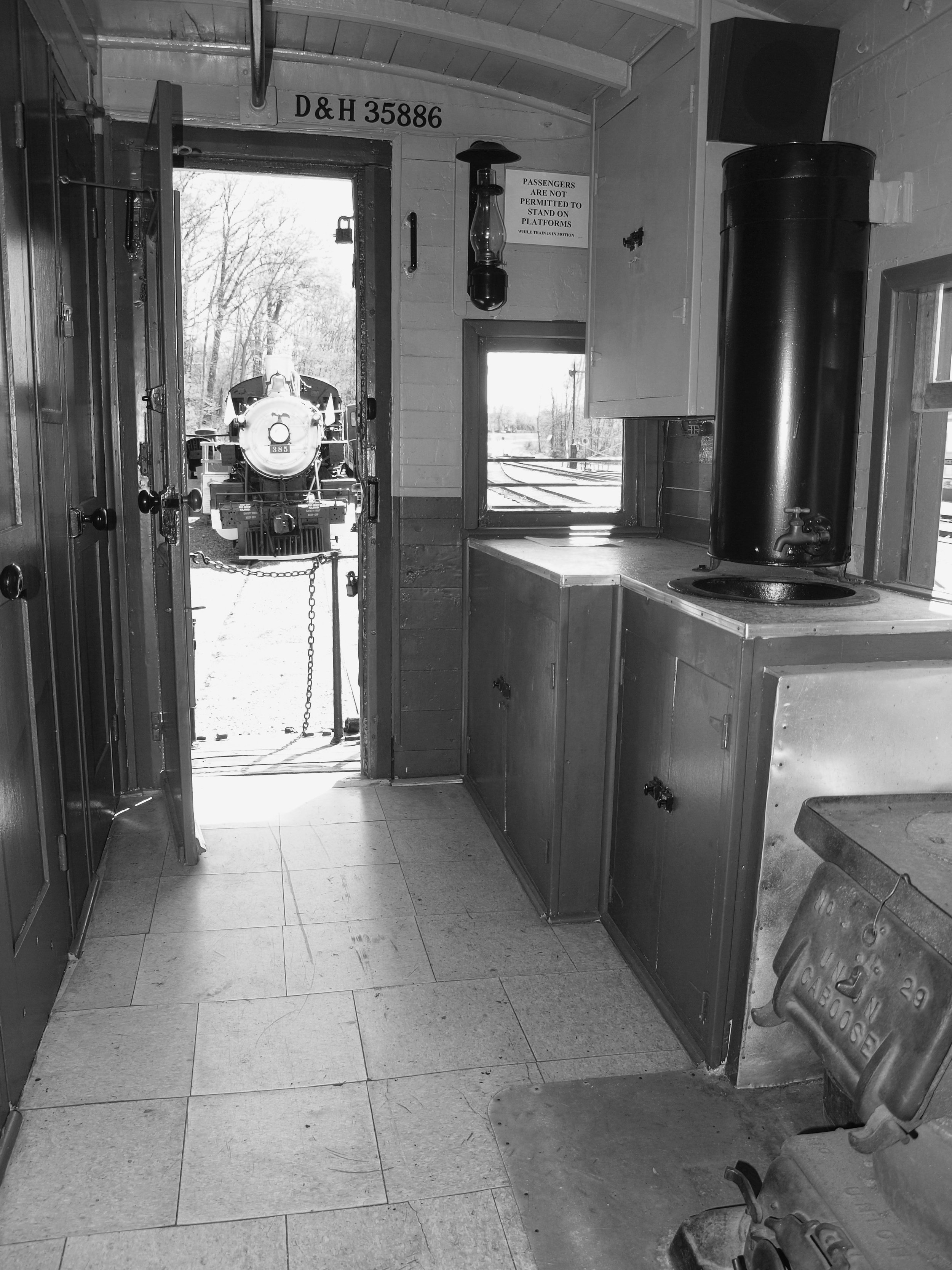 D&H 35886  The interior of Steve Hepler's restored caboose, as it appeared in 2016.  Photo by Steve Hepler.
