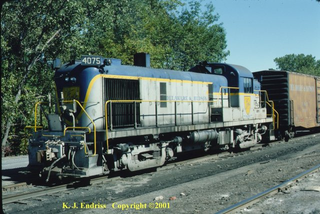 D&H 4075 (2nd)  In Lightning Stripe at Mechanicville in October, 1978.  Kevin J. Endriss photo.