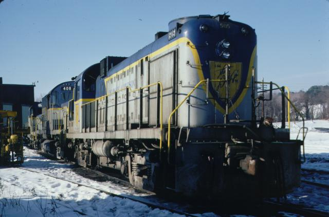 D&H 505  In Lightning Stripe at Mechanicville in January, 1978.  Kevin Endriss photo