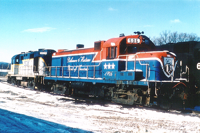 D&H 506  At Binghamton, NY in November 1986.  Bill Mischler photo