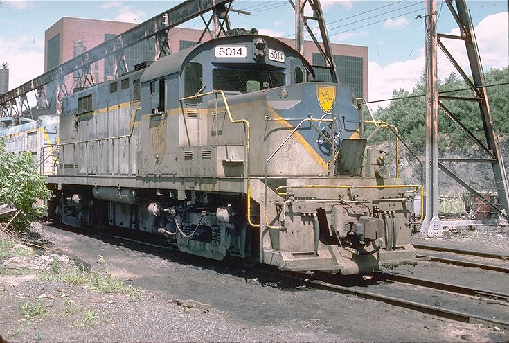 D&H 5014  Unit #5014 at Colonie, NY 7-25-76