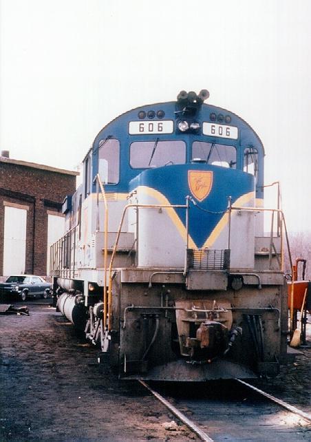 D&H 606  C628 #606 rests at Mechanicville in April 1972 between tasks.  Bill Mischler photo