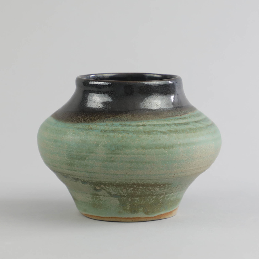 IN GOOD COMPANY x VES. Two-Tone Rounded Vessel w: Candle_11.5x13.2_Celadon_RP219_2.jpg