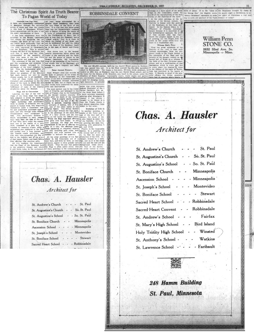Catholic Bulletin advertisement, 1927