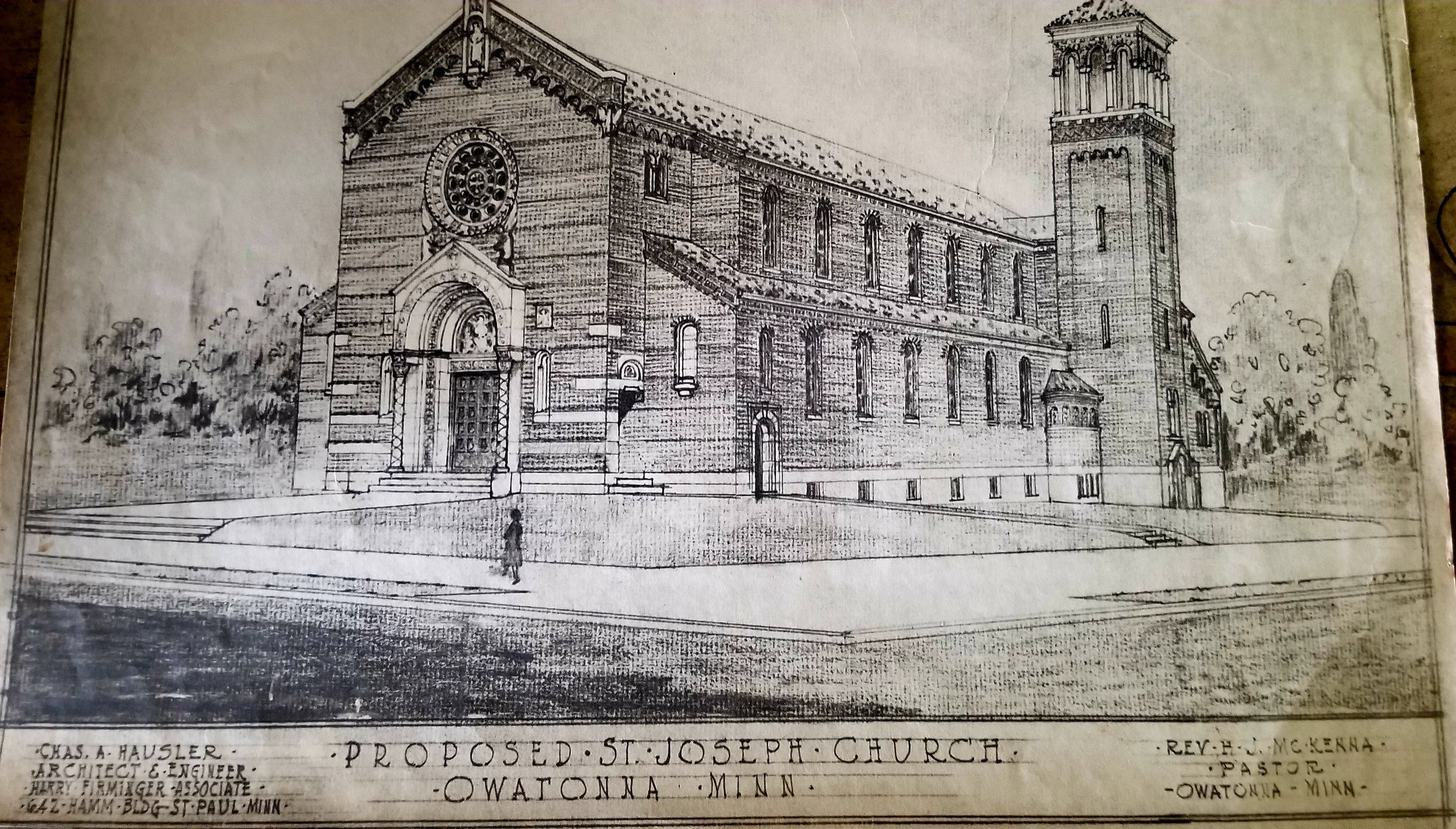 St. Joseph's Church, sketch