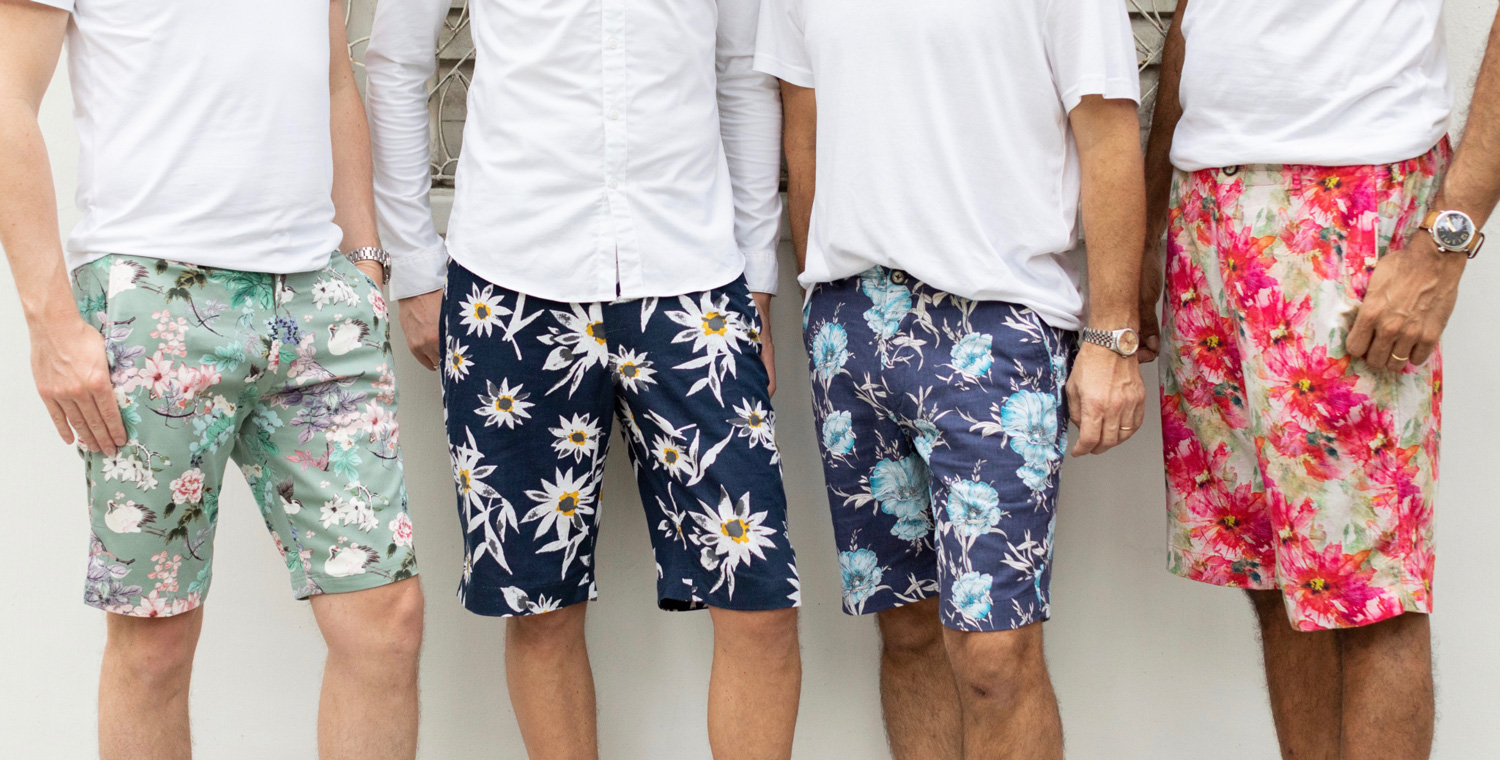 Colorful fabrics that men can wear with ease - Finding great fabrics for men is our challenge, but we then bring you shorts that are locally made and full of character.