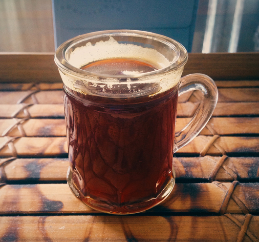 Chifir – a concentrated black tea brew.