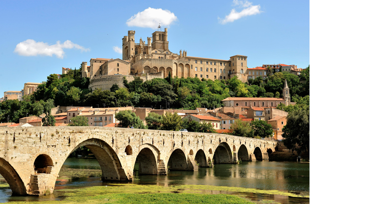 Martine was born in the beautiful old town of Béziers, France (image: www.reddit.com/r/europe/comments/69d6ex/béziers_hérault_france/)
