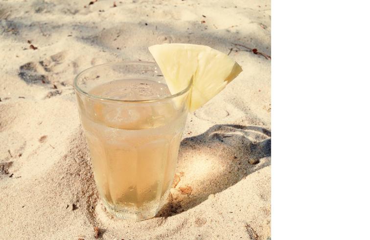 Healthy tea – cold brew Green Flamingo green tea.