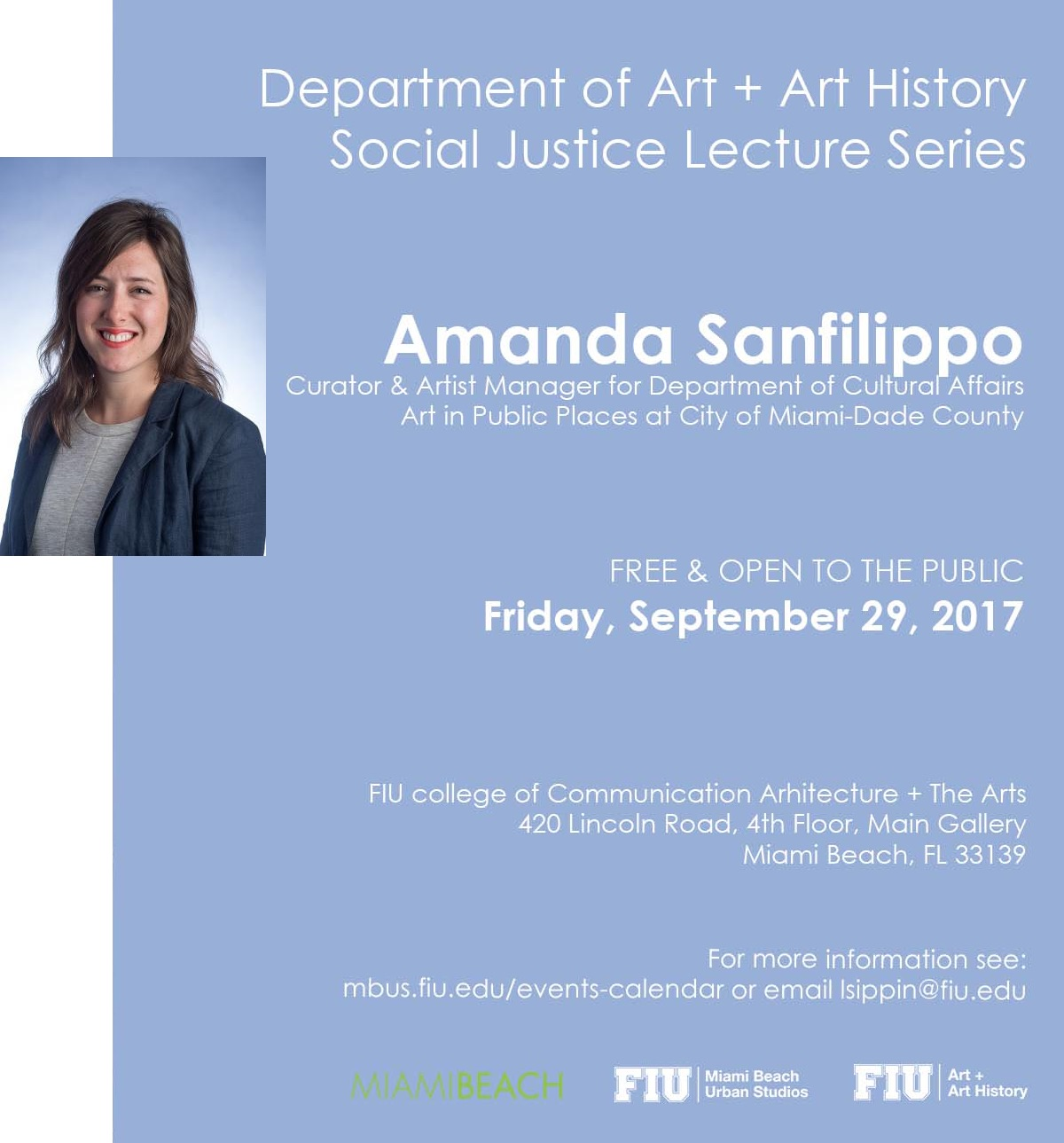 Curator and Artist Manager, Art in Public Places, Miami-Dade County
