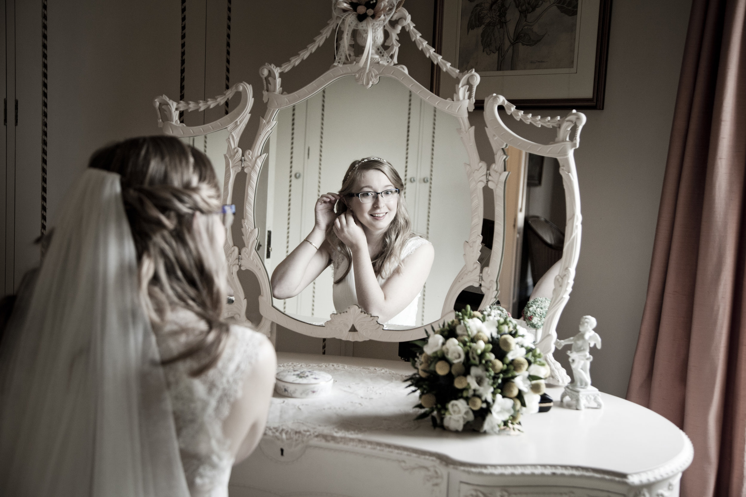 Bride Getting Ready on Her Wedding Day