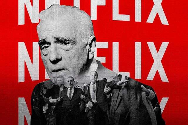 This glorious illustration does not represent Hell, but rather the news that Netflix will not be releasing Martin Scorsese's new film, THE IRISHMAN, in big theater chains, having failed to reach an agreement with them. For @ringer, I wrote about what that says about Hollywood today at the link in bio!