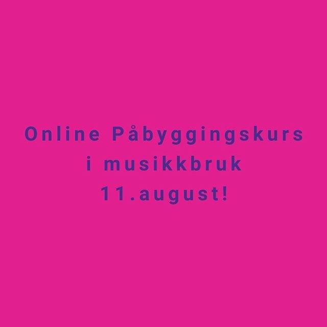Vi gjentar suksessen –  tirsdag 11.august fra 17:00-20:30 kan du delta på online påbyggingskurs j musikkbruk med @alexandrakakurina og @evakatrineth 💯🎶🎉 Sjekk ut link i bio for mer informasjon om kurset og påmelding. Earlybird-pris frem til 1.juli på 650,- Begrenset antall plasser. Har du spørsmål, send oss en mail eller melding🙌🏻🤩 _____________________________________________________  #inspartum #inspartumakademi #gruppetrening #utdanning #kurs #kompetanse #akademi #folkehelse #kunnskap #engasjement #inspiration #fitnesseducation #education #inspirasjontilåskape #instruktør #gruppetreningsinstruktør #treningsglede #inspartumcommunity #visomelskergruppetrening #musikk #musikkbruk