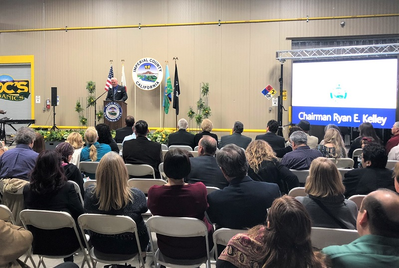Ryan Kelley at Imperial County's recent State of the County address.