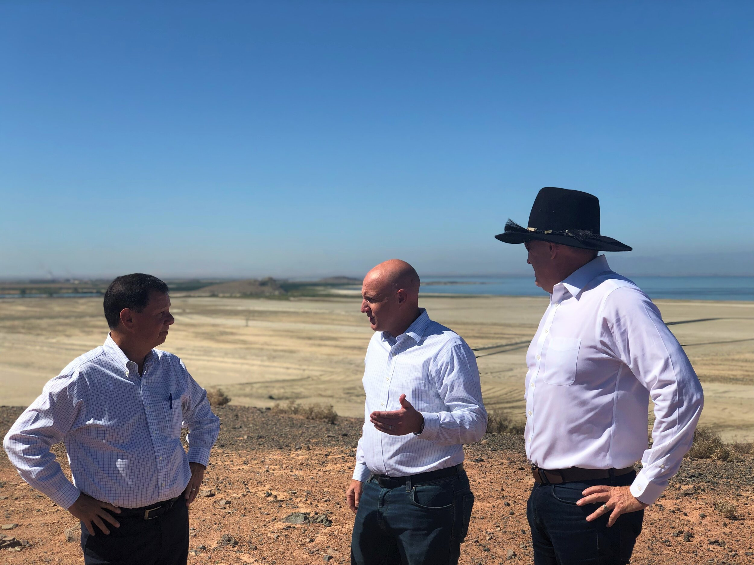 CEO, Rod Colwell (right) and COO, Jim Turner (left) onsite with A/S Simmons
