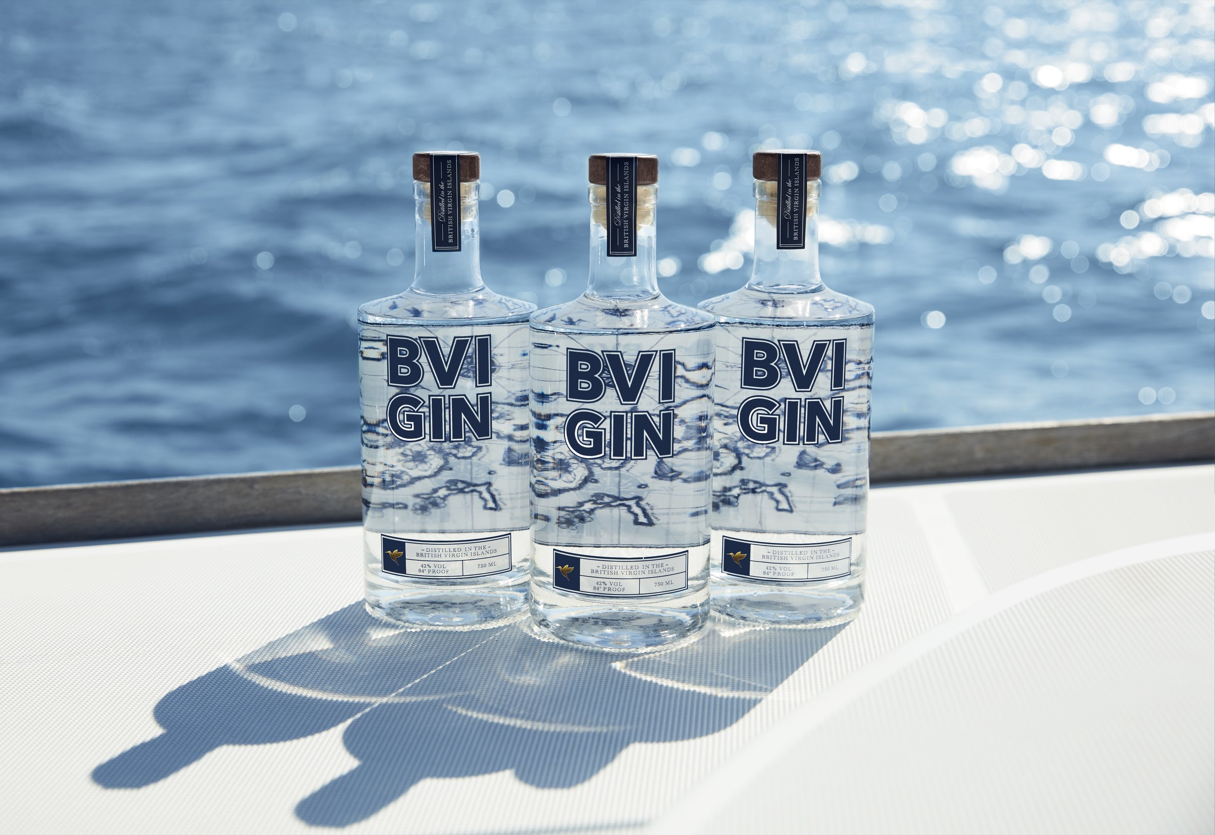- Each bottle of BVI GIN is distilled at our distillery close to the picturesque Little Bay Beach on the BVI's largest island of Tortola. The gin is created from a carefully crafted, contemporary recipe and is distilled using traditional methods in a bespoke copper column still. It is then bottled and labelled by hand resulting in a truly authentic, handcrafted BVI product.
