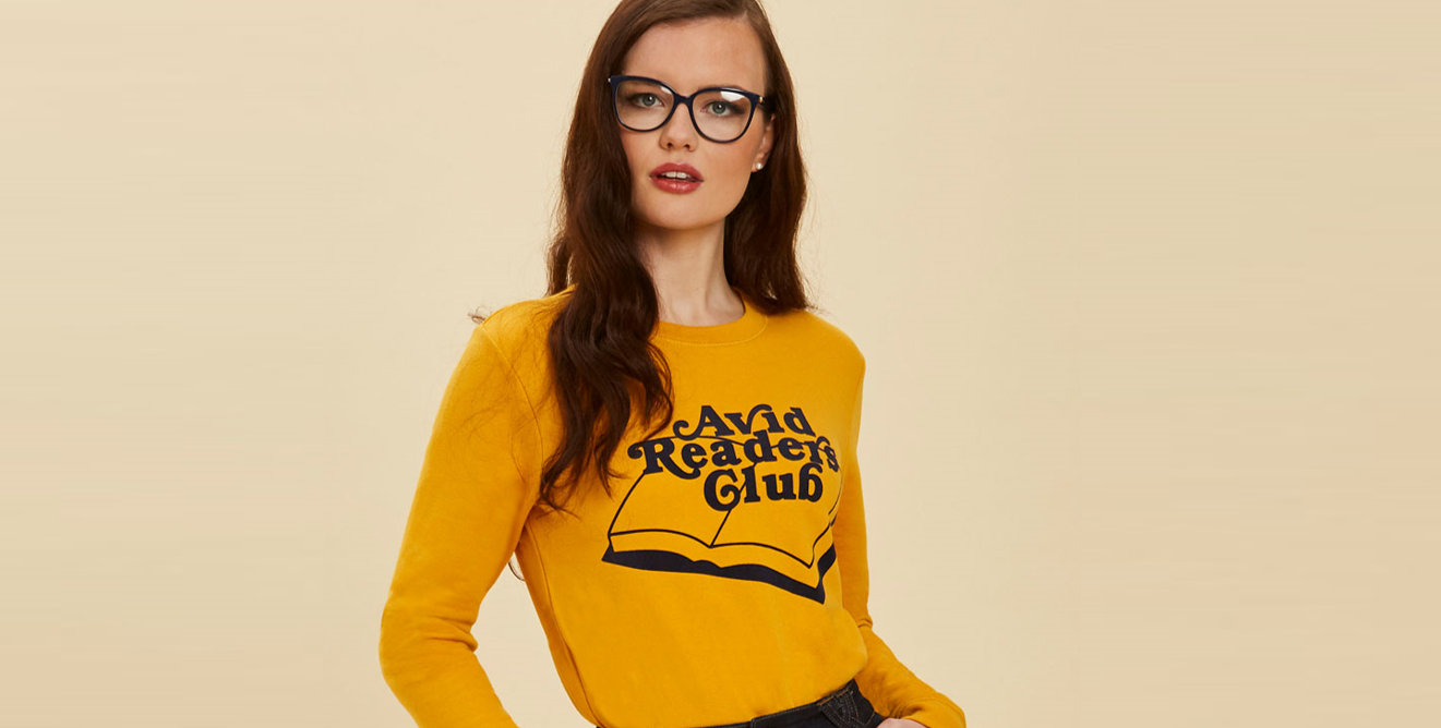 Joanie - bronte readers club sweater - £30