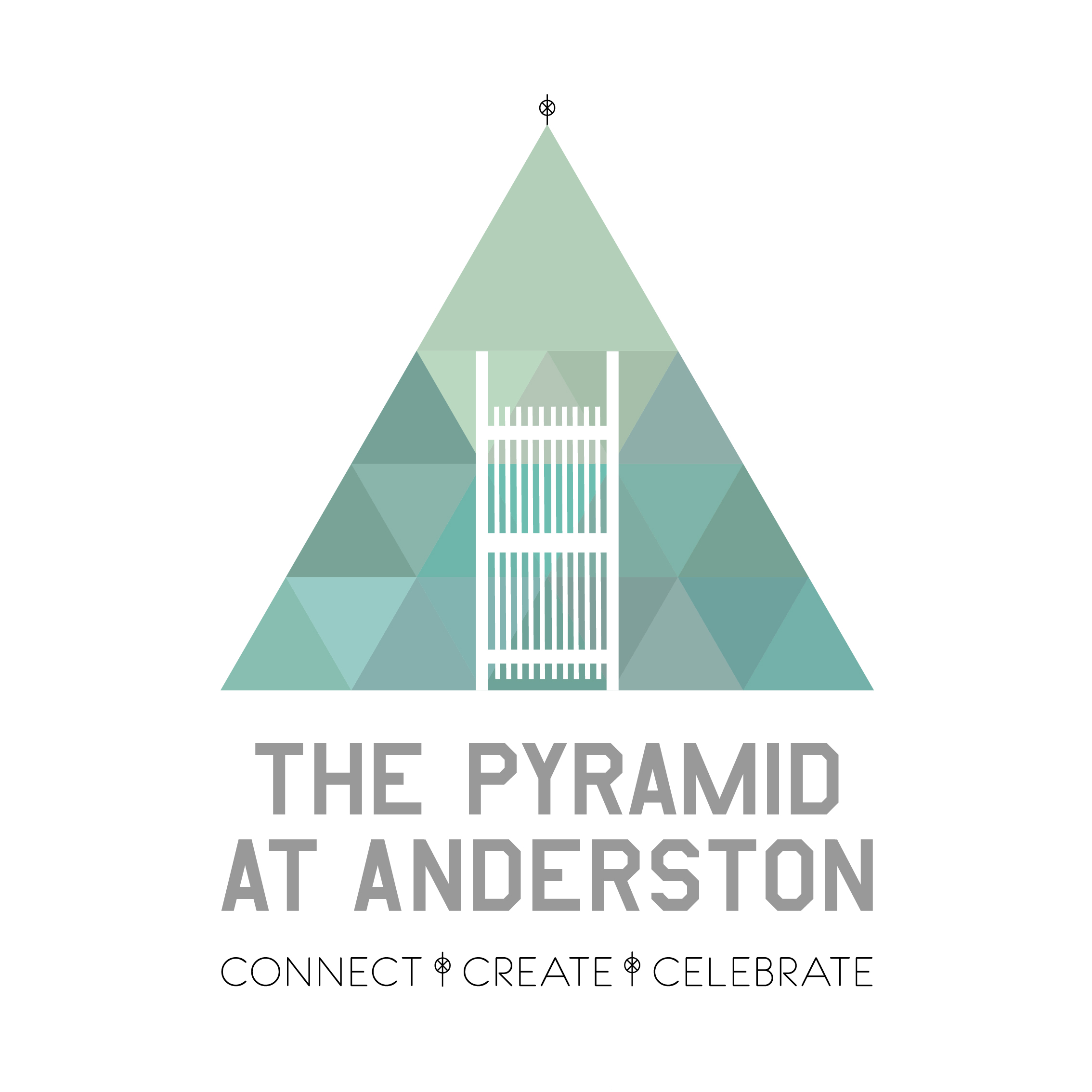Our Identity - A Logo which is unquestionably The Pyramid at Anderston.A logo which can be simplified to suit a one colour print or mono and still keep it's essence.A logo which does not need it's name and is still recognisable.