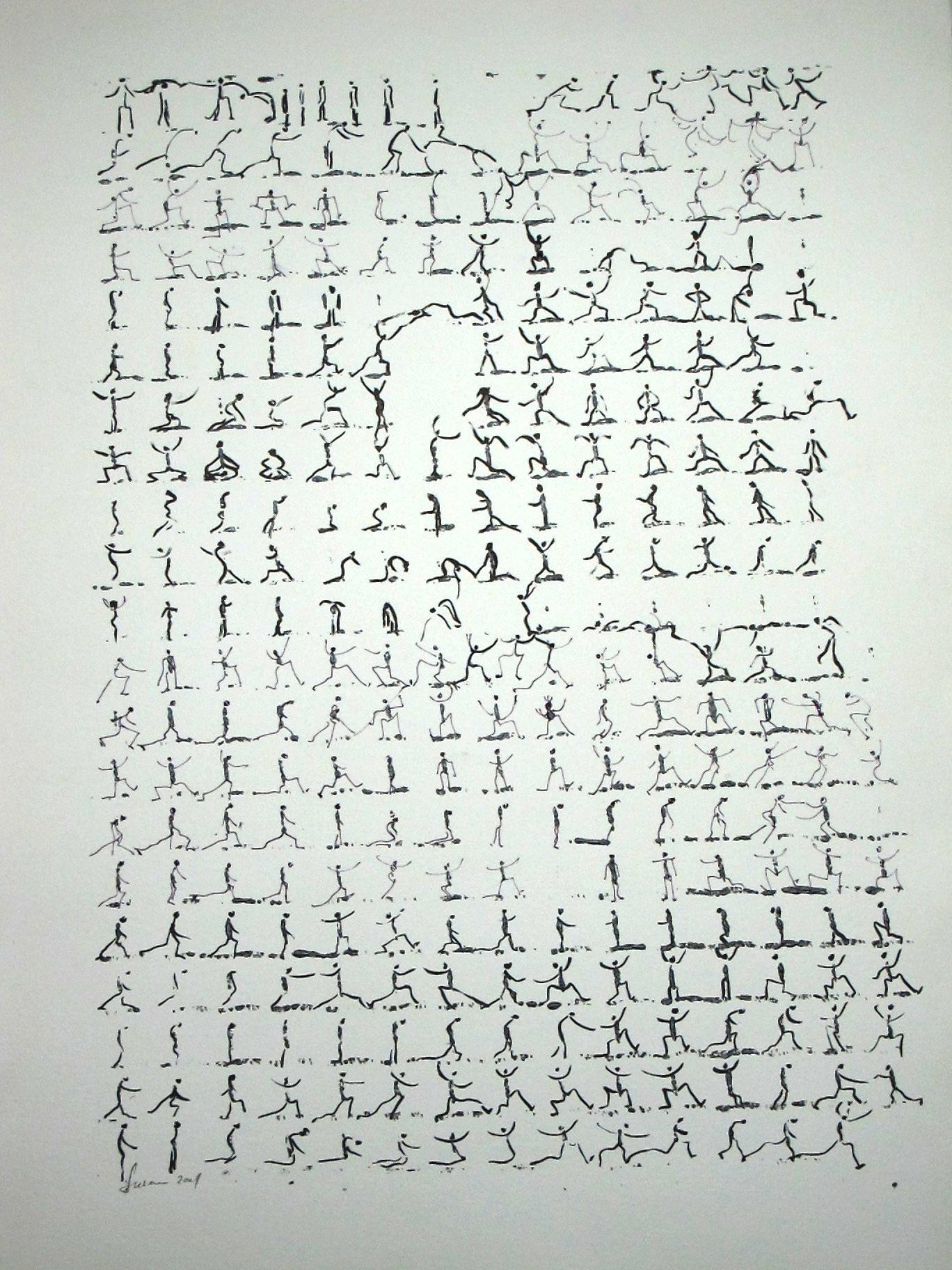 50x65, auf Papier, 2001