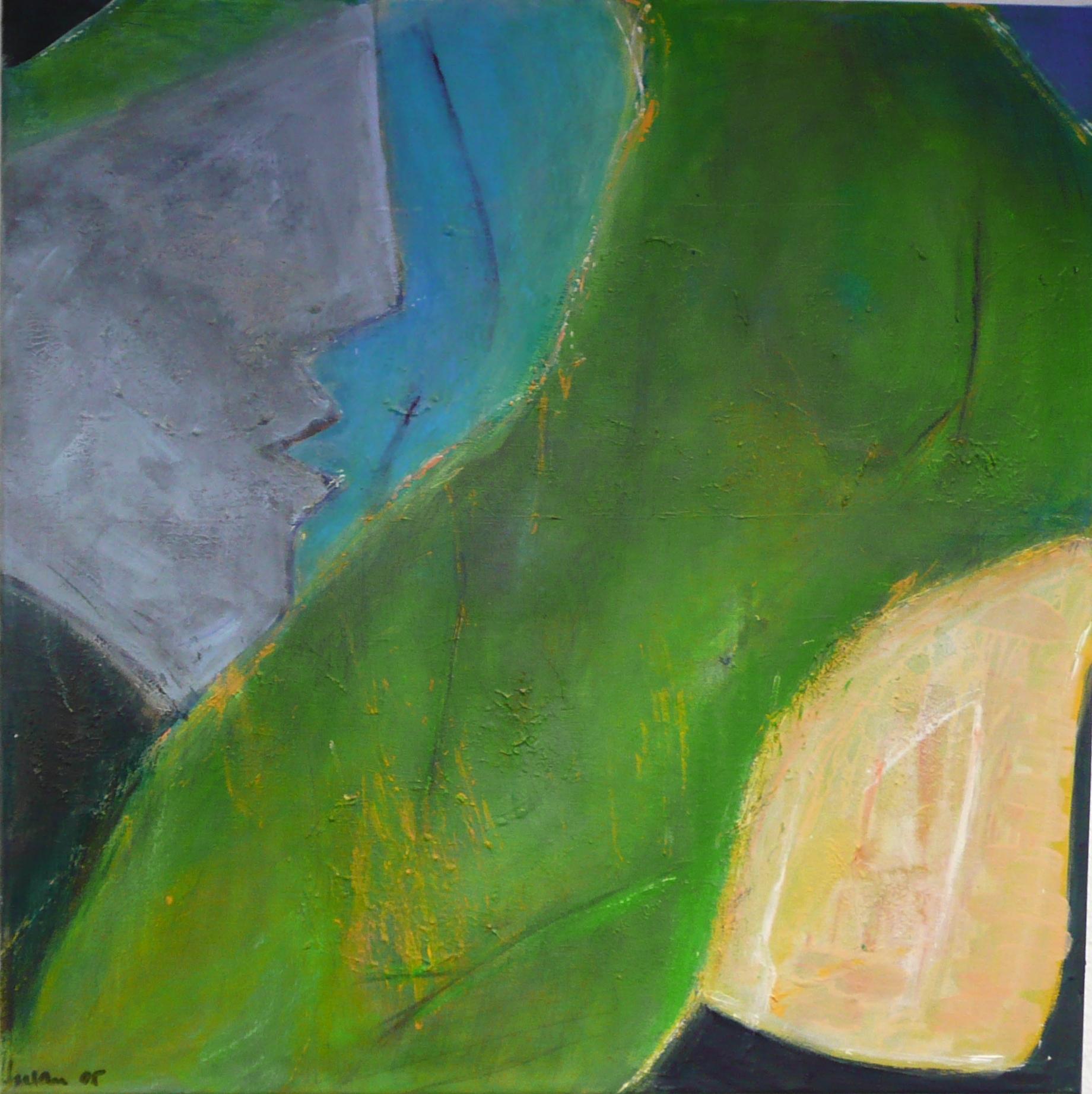 Januskopf I 60x60, Acryl auf Leinen, 2005