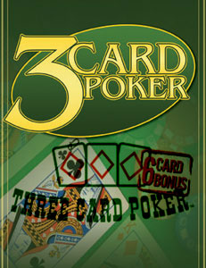3 Card Poker - PROGRESSIVE JACKPOT!!! NO COLLECTION!!! 3-Card Poker is easy to learn and a blast to play. Now play the 6 card bonus bet for another great way to win! The object of Three Card Poker is to beat the player/dealer in a three-card poker game. The ranking of hands are as follows: 1 Royal Flush, 2 Straight Flush, 3 Three of a kind, 4 Straight, 5 Flush, 6 Pair, 7 High Card Each player receives three cards face-down. The player/dealer receives three cards, two face-down and one face-up. GEGA 2119, 4383