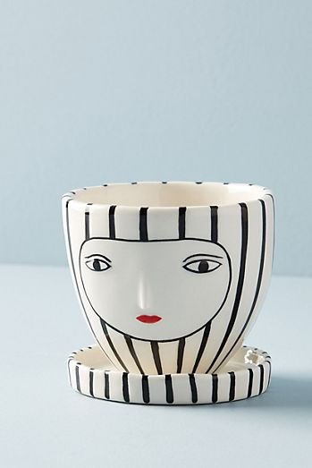 Anthropologie Kinska Face Mug