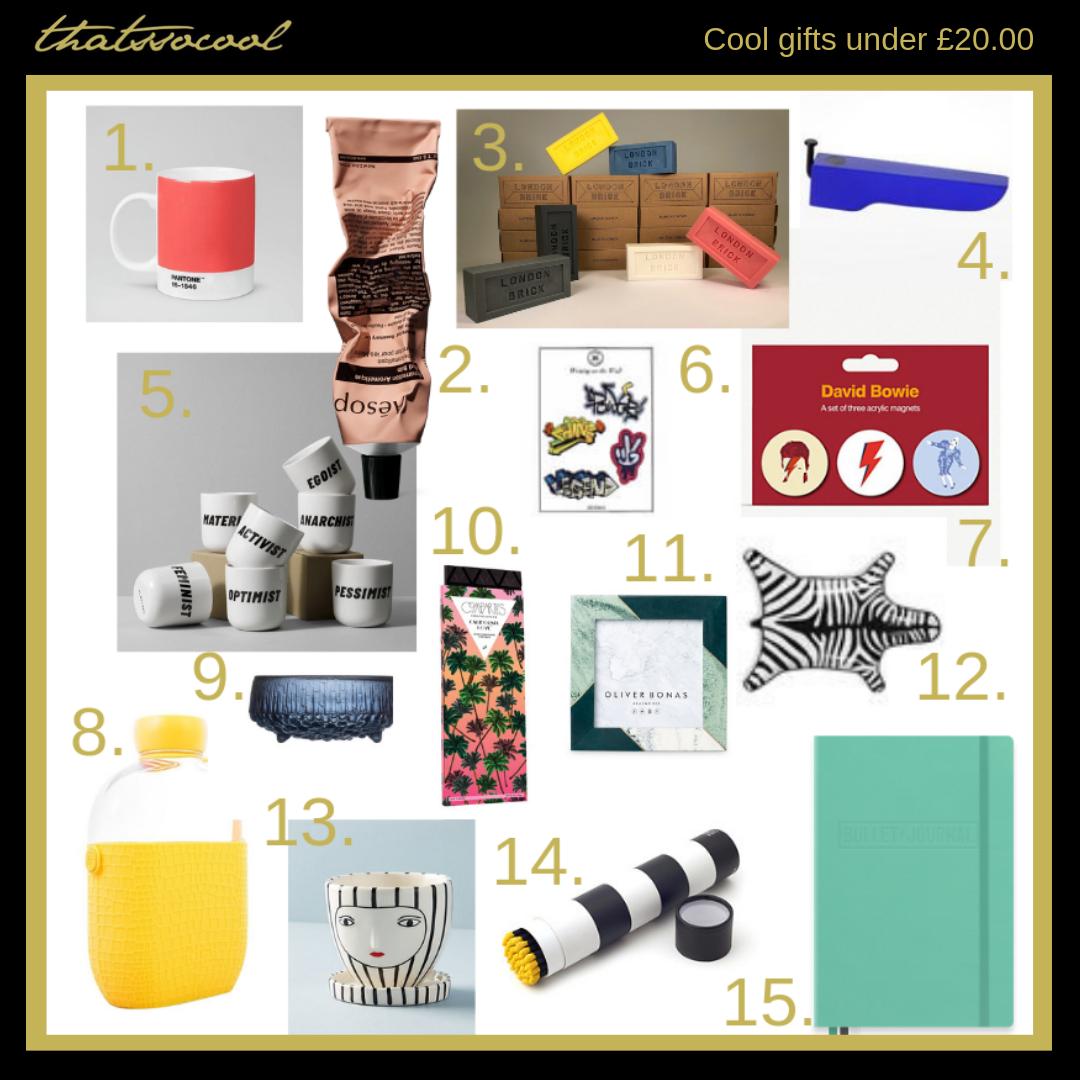 thatssocool gift guide under £20.00