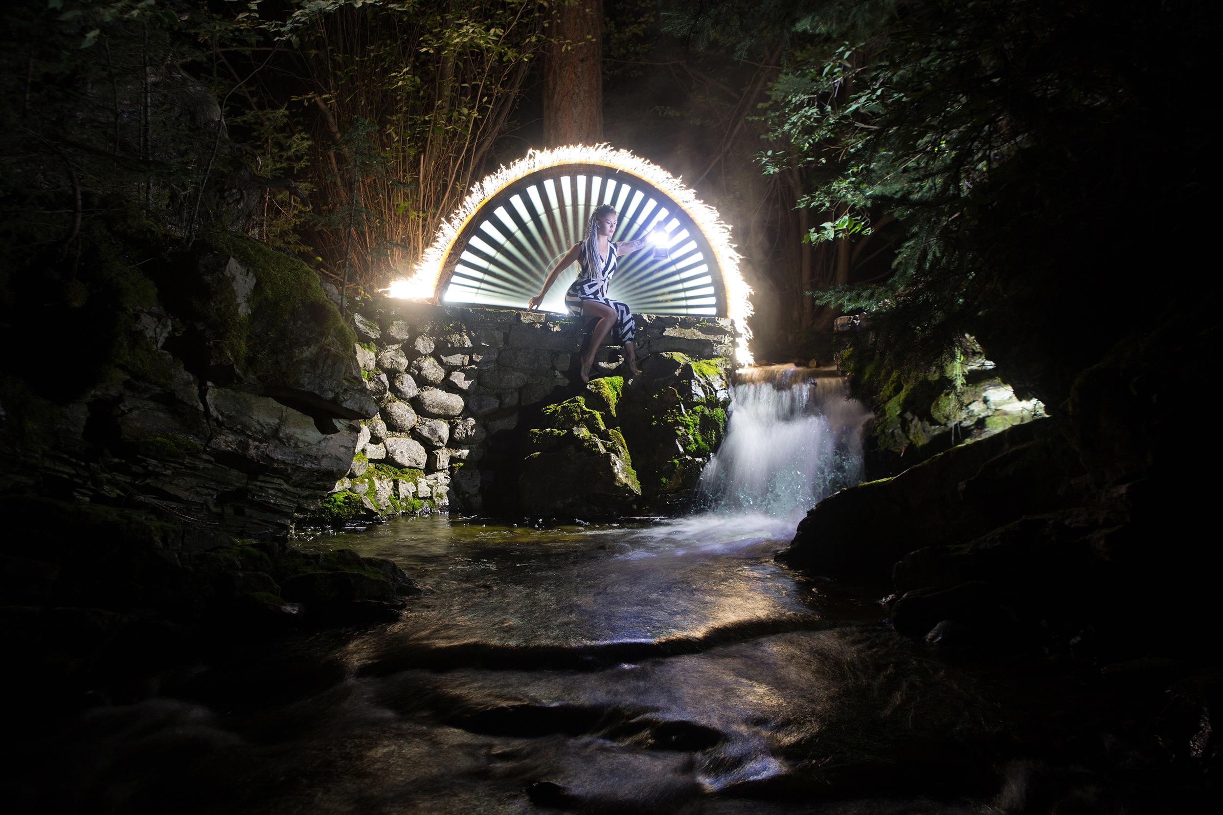 Ciara at the waterwheel ruins
