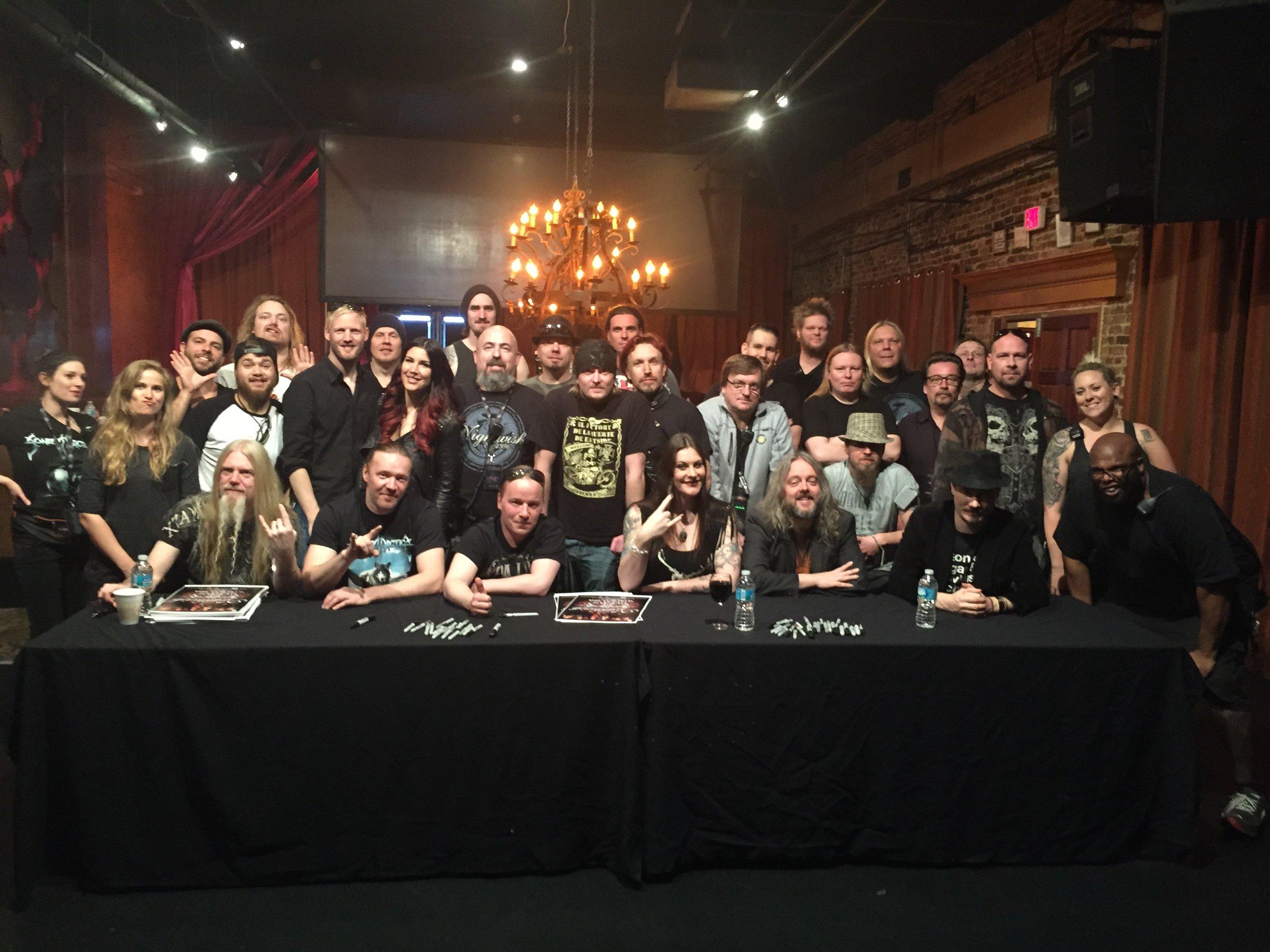 Nightwish, Sonata, Delain & Crew Tour Wrap 3.23.16 Tampa.jpg