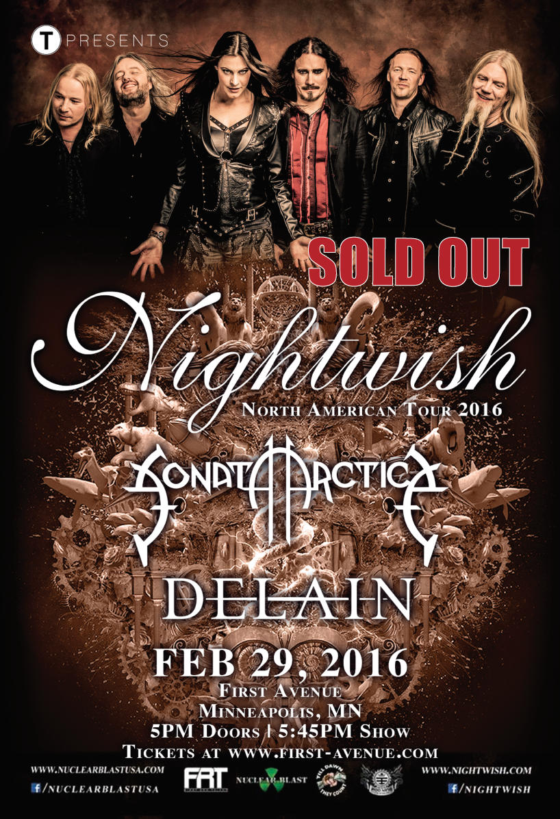 Nightwish First Ave Sold out Poster.png
