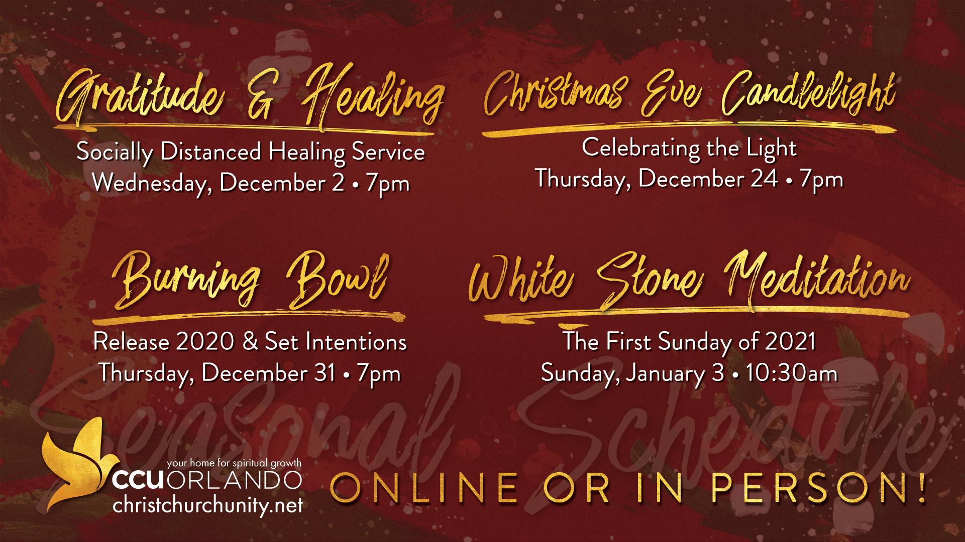 Christmas Schedule At Orlando 2021 Holidays Are Joyful At Ccu Orlando Ccu Orlando