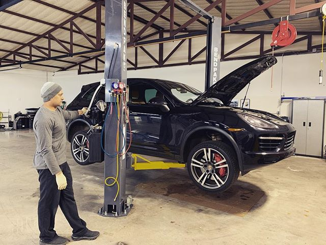 Another #Porsche moment in the #auto #shop! #denvernc #travel #cars