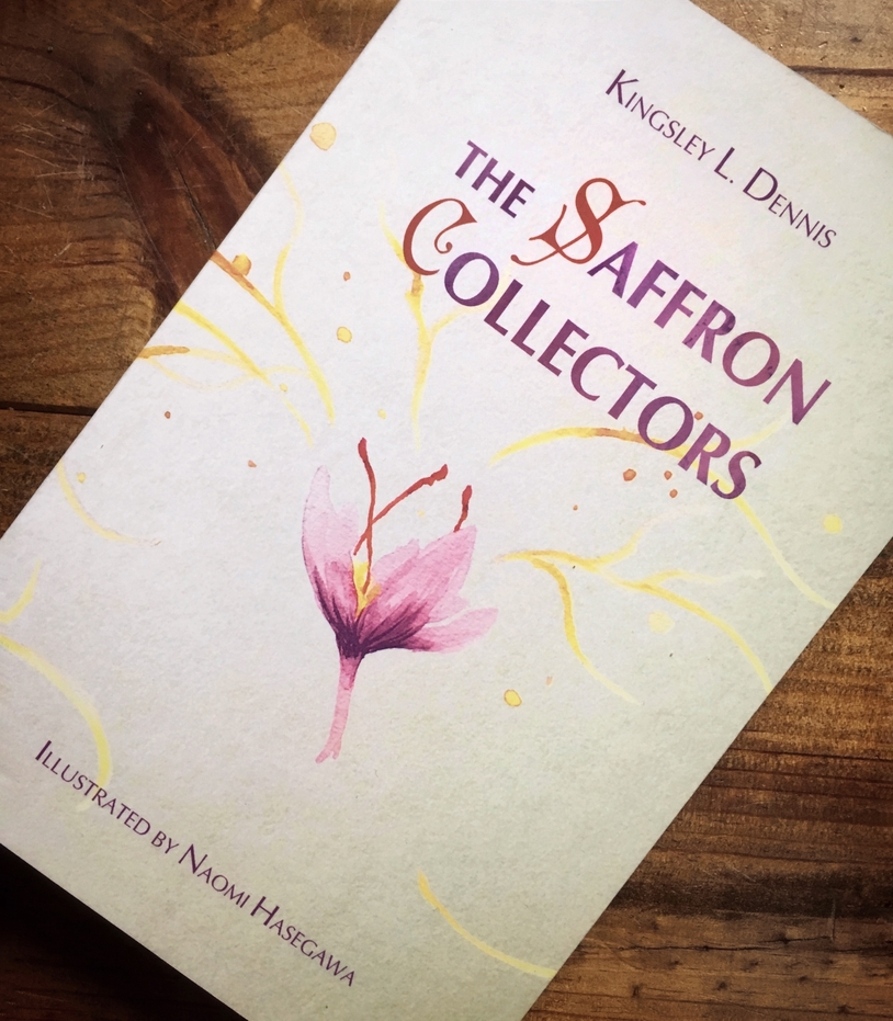 The Saffron Collectors Cover - by Kingsley L Dennis, Illustrated by Naomi Hasegawa