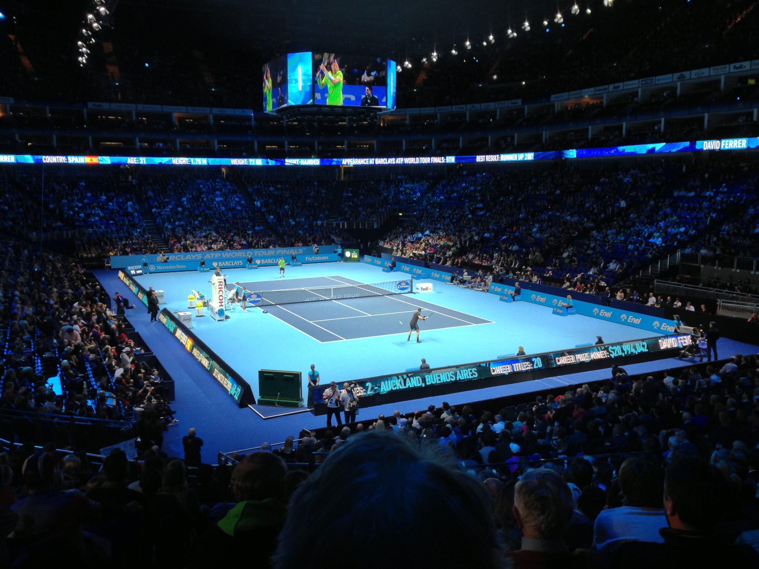 BARCLAYS ATP TENNIS /  Creative Director on the ATP tennis finals at the O2. Establishing consumer experientials, an interactive arena show and creating film content for ticket promotions.