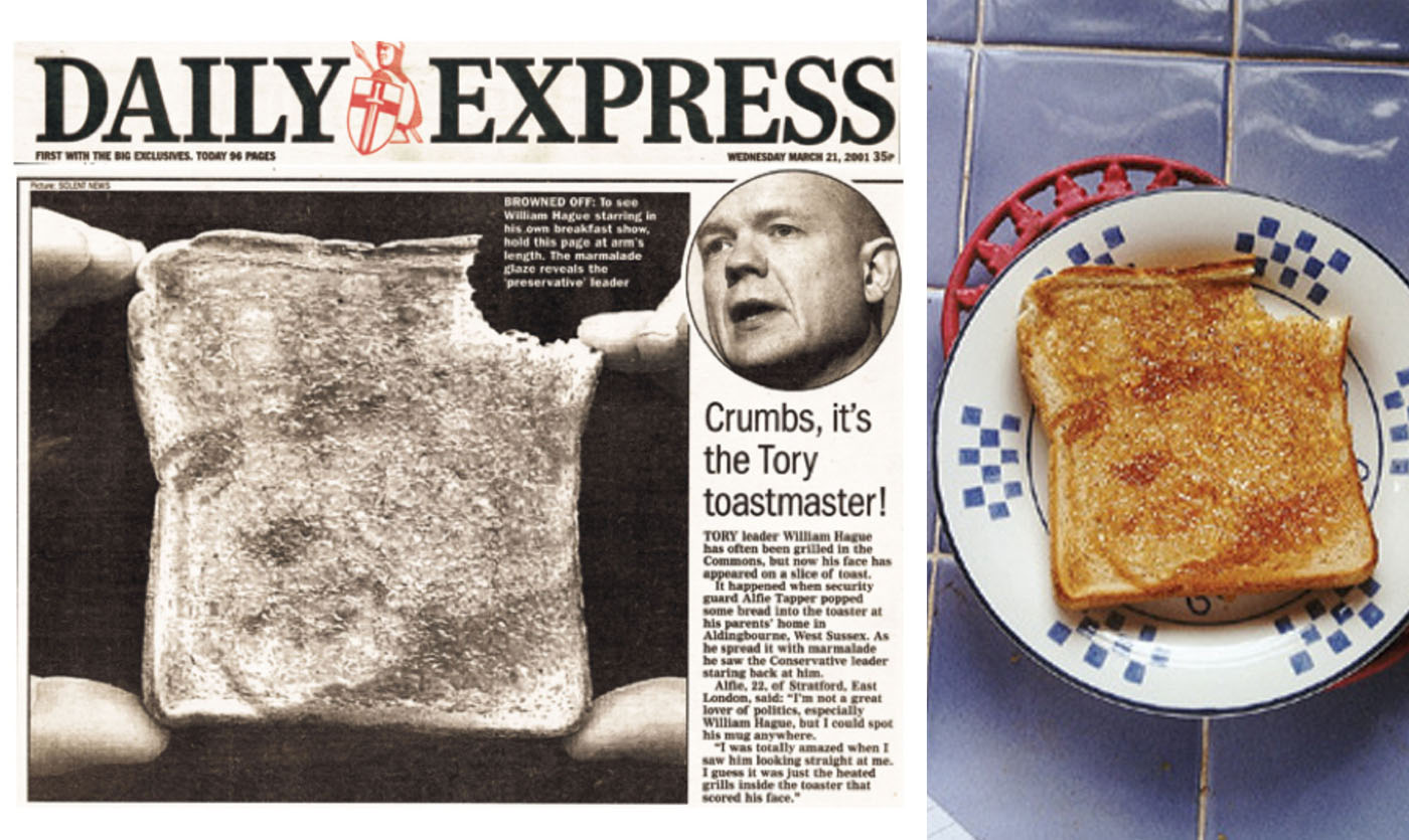 KELLOGGS /  The appearance of William Hague on a piece of toast for Kelloggs' Fruit Winders as part of a series of wind up stunts around the UK.