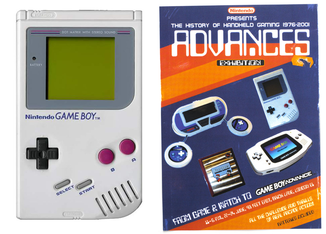 NINTENDO /  Handheld gaming retrospective exhibition for the release of the Game Boy Advance.