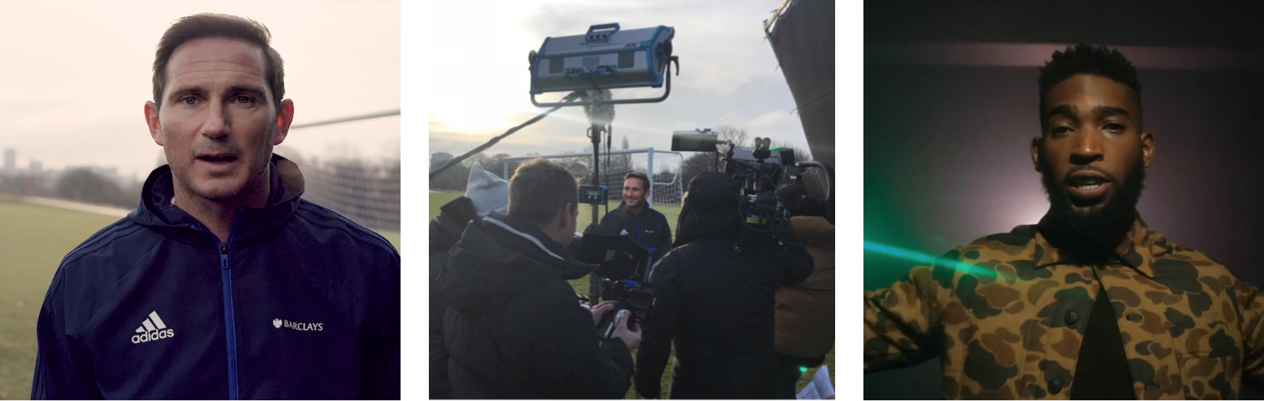 BARCLAYS 'GAME CHANGING'   /  18 month football strategy producing content and events with their new ambassador Frank Lampard as well as overseeing all social and Manager of the Month competitions. The Development of a two year lifeskills campaign with Barclays and Tinie Tempah with content and live events.
