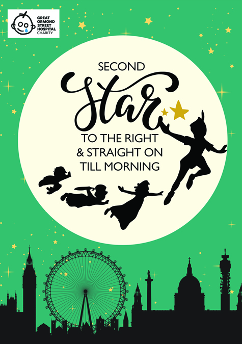 FIRST STAR ON THE RIGHT AND STRAIGHT ON TILL MORNINGStars are not only important to us but they are are also important to our benefactor, Great Ormond Street Hospital (GOSH). Not many people know this but GOSH was gifted the writes to Peter Pan, the story of the boy who back in 1929 by the author JM Barrie.Discover more about GOSH→ -