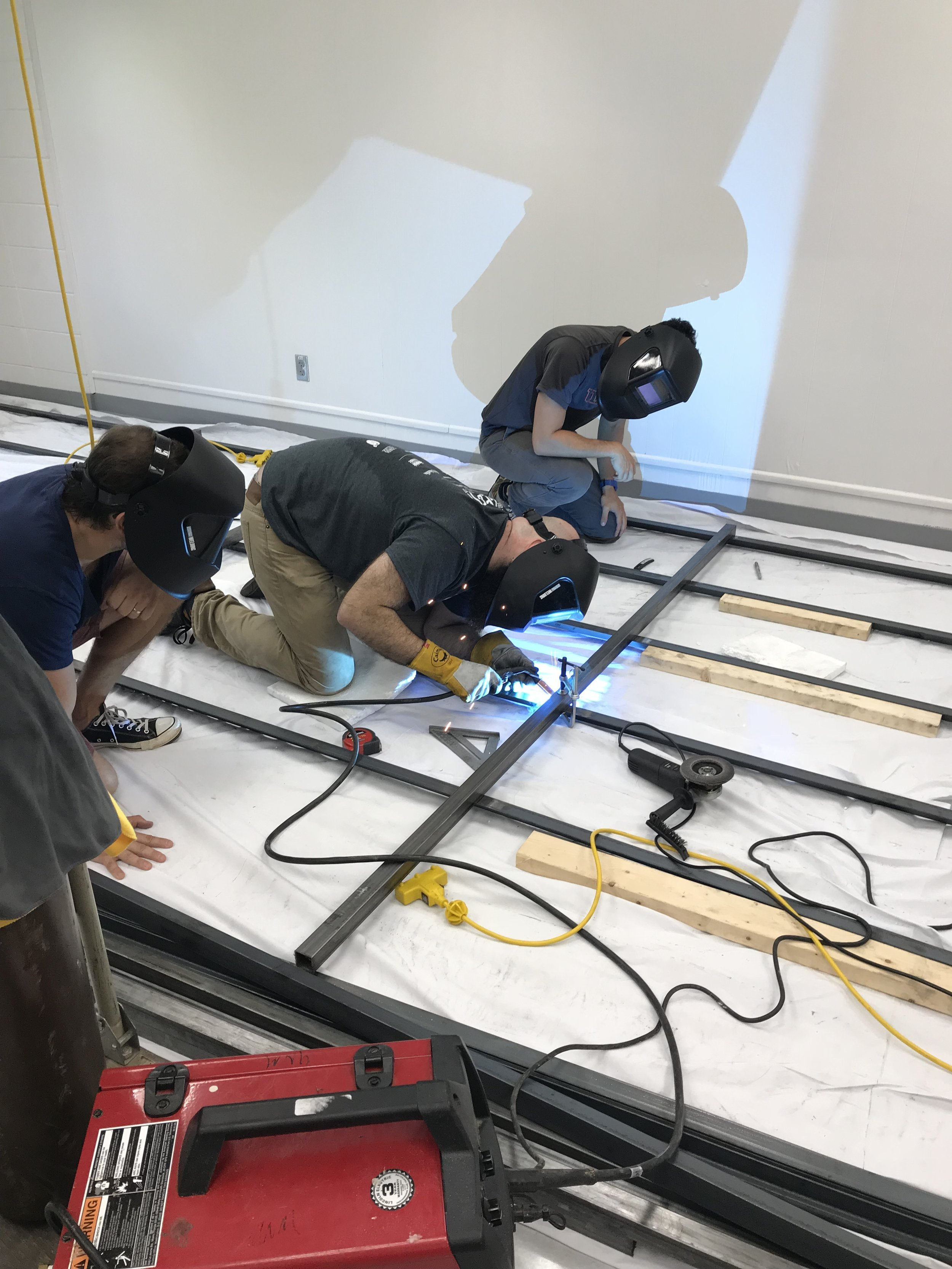 GDS STEM Teachers learning to weld