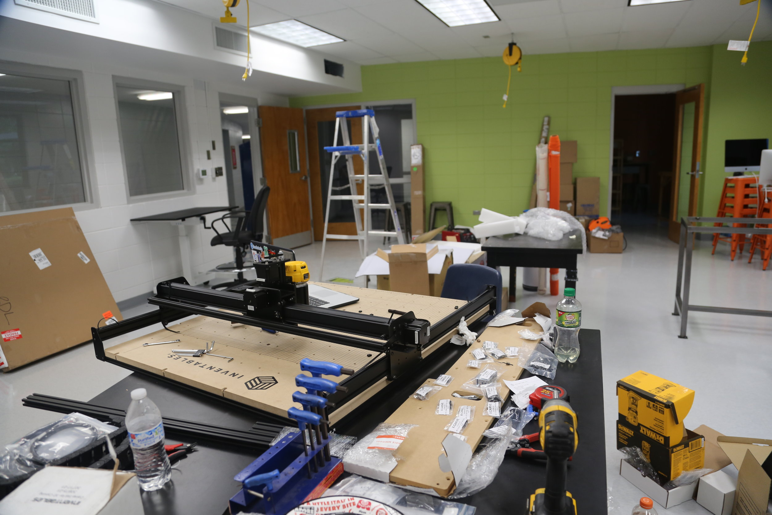 X-Carve and maker space assembly in-progress