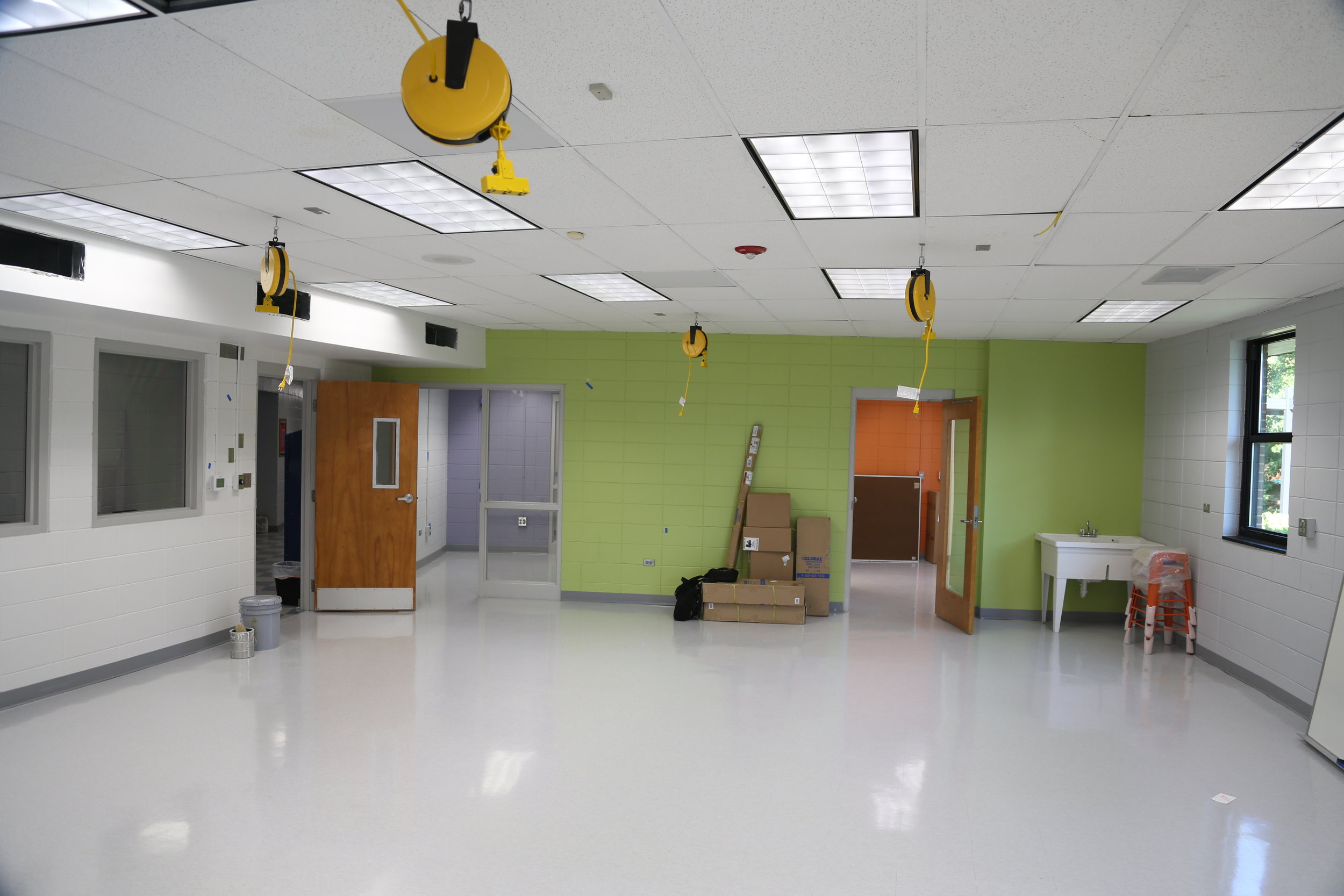 Before the install of the maker space equipment