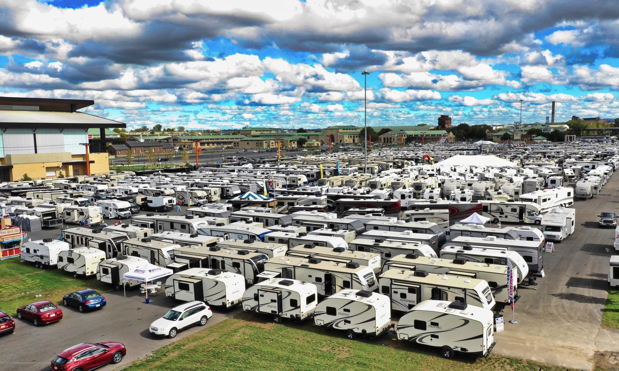 nys rv show from entrance 2018.JPG