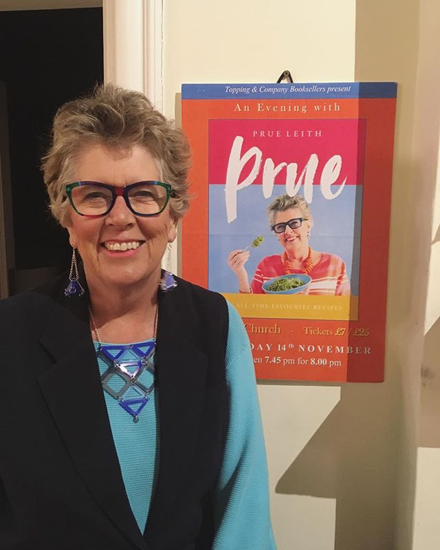 I had the pleasure of meeting the fabulous @prueleith recently on her new book tour! Here she is wearing a necklace and earrings from my new jewellery collection at her event in Abergavenny last week. The collection will be launching online in the new year! 👀